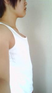ナベシャツ【マスキュリン】ホワイト着用画像