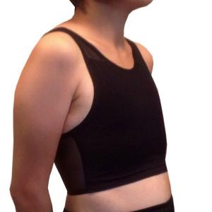 メッシュ製ナベシャツ ショート ブラック
