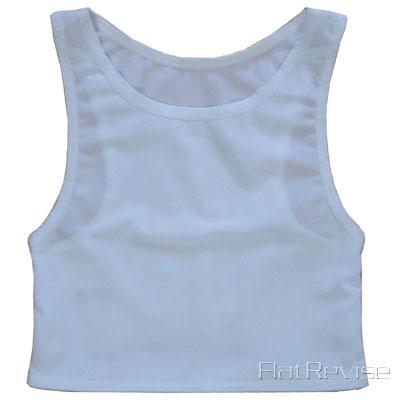 メッシュ製ナベシャツ ホワイト