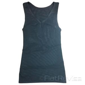 メッシュ製ナベシャツ Vネック ロング ブラック 前
