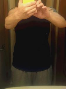 ナベシャツ【マスキュリンVer.2】ブラック Mサイズ 着用画像