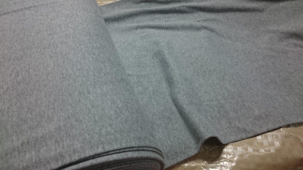 ナベシャツ杢グレー用の生地